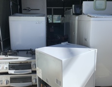 座間市周辺で冷蔵庫、洗濯機、ガスコンロなどを回収しました