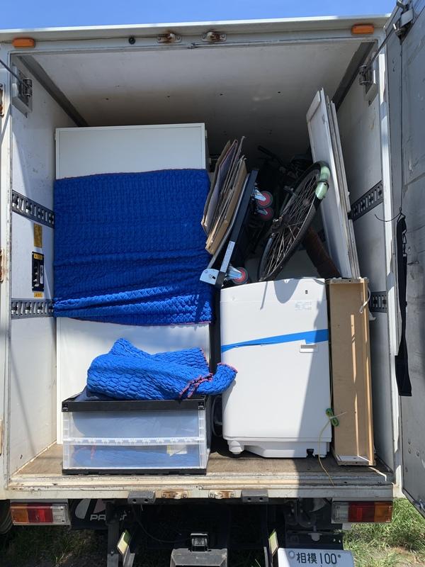 横浜市緑区にて冷蔵庫、ソファー、ベッドなどの回収をしましたのサムネイル