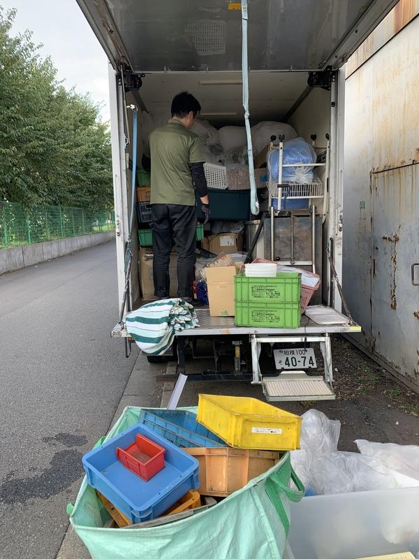東京都立川市で、古紙やプラスチック、ビニールなどの回収をしましたのサムネイル