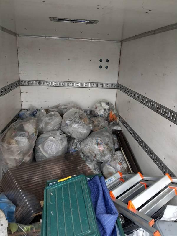 東京都大田区にて屋外のごみの回収をしましたのサムネイル