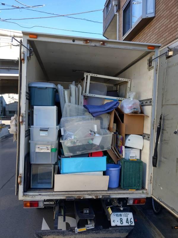 川崎市中原区にて布団や棚、衣装ケース、エアコンなどの回収をしましたのサムネイル
